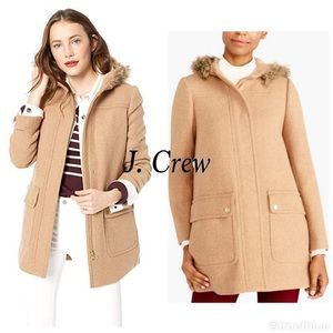 🆕 J. Crew Camel Wool Parka Plus Sz 24